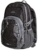 Trespass Albus Waterproof Unisex Outdoor Black and Grey Backpack Rucksack - Ash, 30 Litre