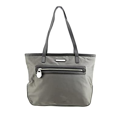 8dae05913cf9 Image Unavailable. Image not available for. Color  Michael Kors Kempton -  Small Nylon Tote - Graphite - Black. Roll over image to zoom in