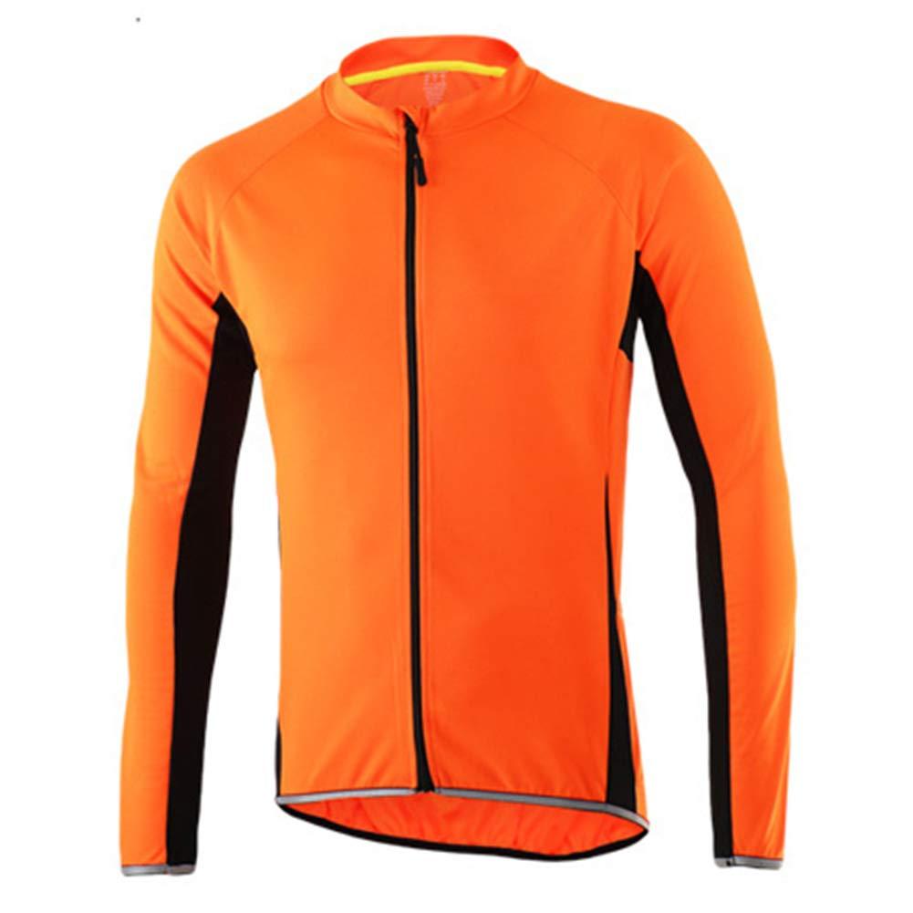 Herren Radtrikot mit Langen Ärmeln Voll Zipper MTB-Fahrrad-Hemd Rad Fahren Fahrrad-Trikots Reflective Slim Fit extrem weich