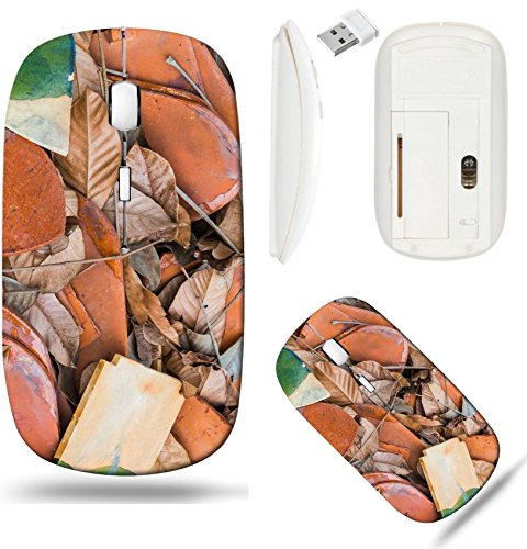 Liili Wireless Mouse White Base Travel 2.4G Wireless Mice with USB Receiver, Click with 1000 DPI for notebook, pc, laptop, computer, mac book leaf metal on the roof abstract for backgrounds Photo 1911