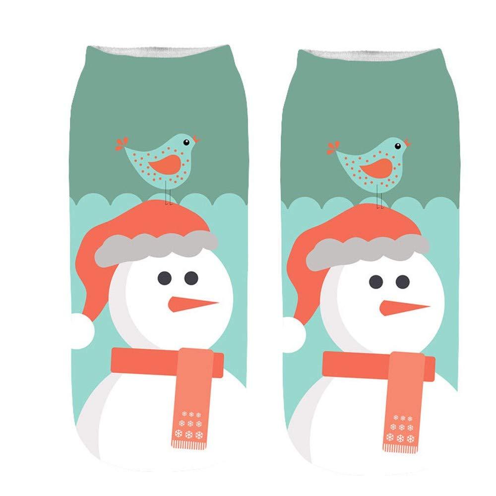 U.Expectating Unisex-Weihnachts Socken Lä ssige Soft Breathable Warm Santa Schneemann Socken