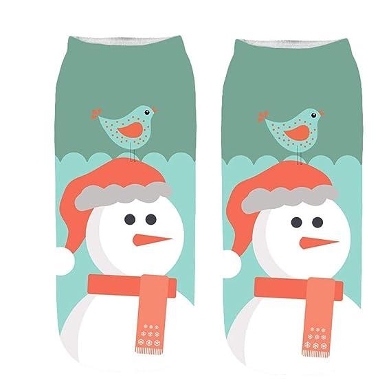 Sylar Calcetines De 3D Estampados Navidad Para Mujer Divertidos Populares Tobilleras Calcetines Cálido Suave Deportivo Casual Calcetines: Amazon.es: Ropa y ...