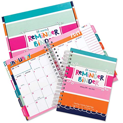 2019-2020 (18-Month) Planner with Weekly & Monthly Horizontal Layout, 6.5