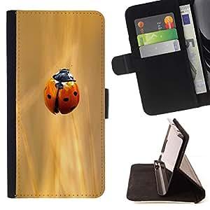 For Sony Xperia M4 Aqua Case , Champ Sun Rye Rouge - la tarjeta de Crédito Slots PU Funda de cuero Monedero caso cubierta de piel