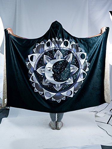Moon Beams Premium Sherpa Hooded Blanket - Electro Threads by Electro Threads (Image #1)