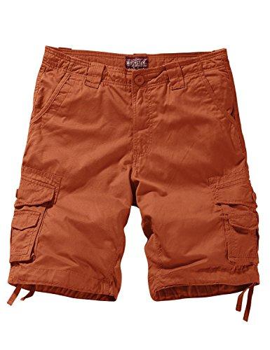 Match Men's Comfort Cargo Short (Label Size XL/34 (US 32), 3088 Orange)