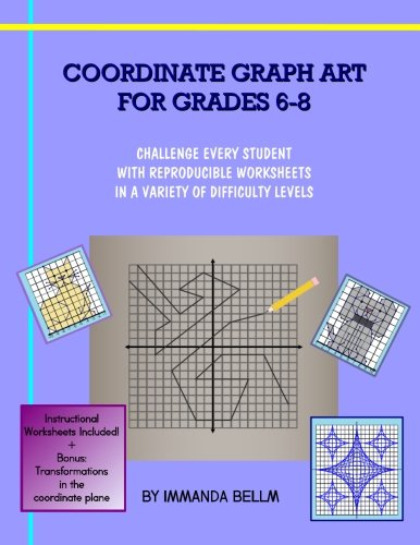 Counting Number worksheets graphing coordinates pictures worksheets : Amazon.com: Coordinate Graph Art for Grades 6-8: Challenge every ...