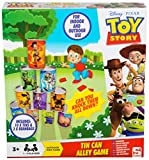 Disney Pixar Toy Story Children Tin Can Alley Game For Indoor And outdoor toys | 10 Tin Cans And 3 Bean Bags Included | Fun Family Garden Game For Kids With Buzz and Woody