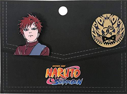 - Ripple Junction Naruto Shippuden Gaara 2 Pack Enamel Pins OS Multicoloured