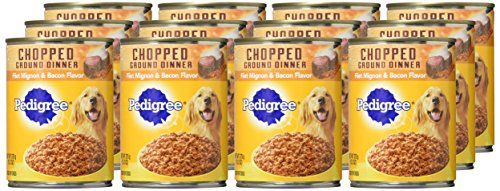 Pedigree Adult Canned Wet Dog Food Chopped Ground Dinner Variety Pack, (12) 13.2 oz. Cans