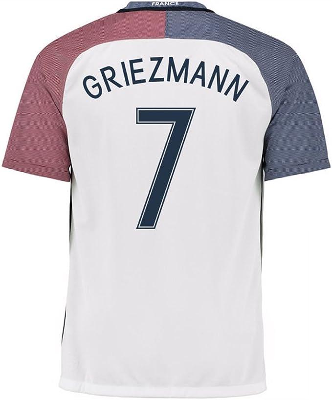 Fútbol niños 2015 – 2016 Fútbol Away Jersey # 7 Griezmann Francia Kids Kit Copa de Europa Sportwear Camiseta & Pantalones Cortos y Calcetines y ...