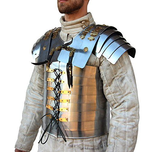 Armour Roman - Roman Soldier Military Lorica Segmentata Body Armor 20g Steel