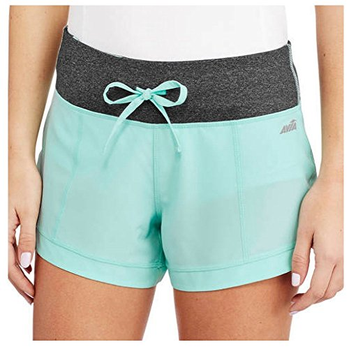 avia-womens-active-stretch-woven-short-large-aruba-blue-charcoal-melange