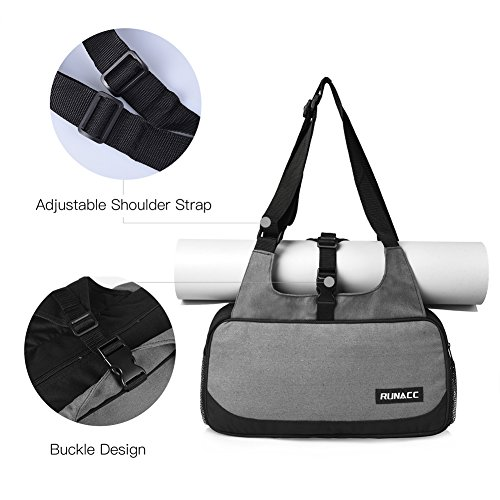 RUNACC Stylish Yoga Mat Bag with Mat Strap holder Pilates Clothing and Gym Accessories Carrier for Women, 1 Free Pair of Yoga Toesocks by RUNACC (Image #4)
