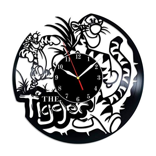 TikTok Studio Winnie The Pooh Tigger Vinyl Record Wall Clock, Tigger Wall Art, Tigger Nursery Decor, Winnie Pooh Gifts for Kids