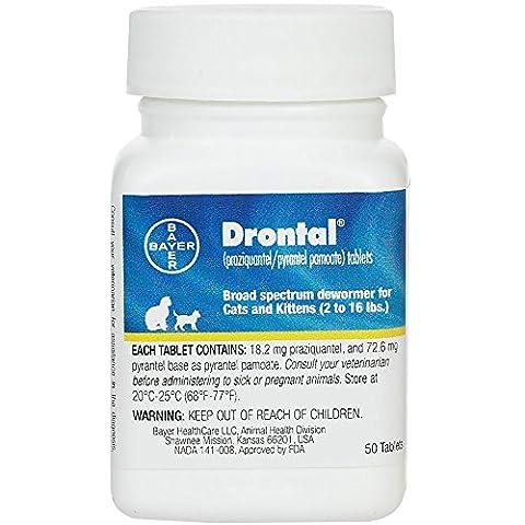 Bayer Drontal Broad Spectrum Dewormer, 50 Tablets (Bayer Cat Dewormer)