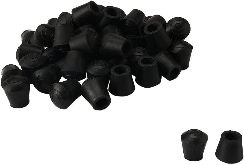 uxcell 32pcs Chair Leg Tips Caps 10mm 3/8 Inch Inner Dia Anti Slip Rubber Furniture Table Feet Cover Floor Protector Reduce Noise Prevent Scratches