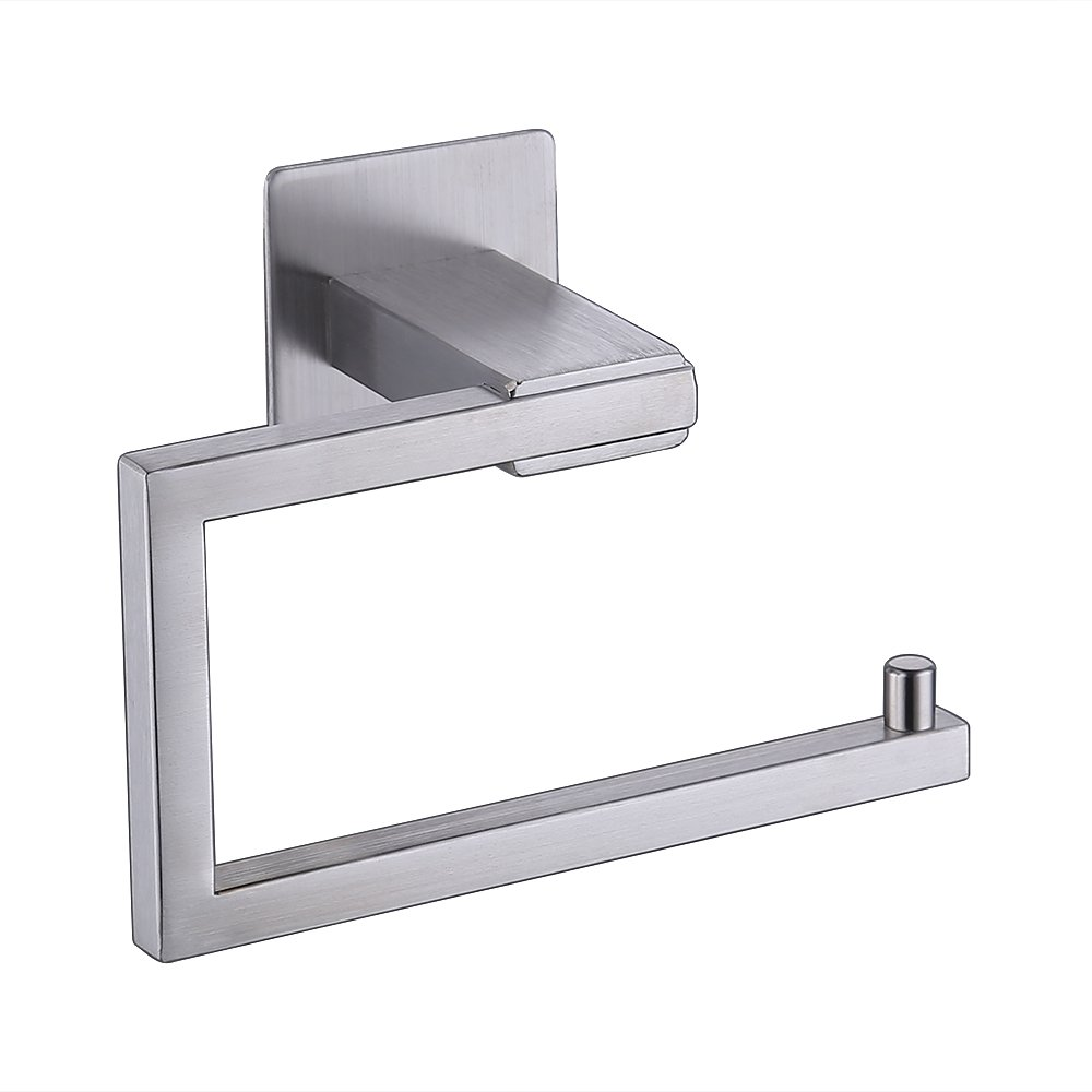 KES Self Adhesive Toilet Paper Towel Holder Tissue Paper Roll Holder RUSTPROOF Stainless Steel Brushed Finish, BPH7200-2