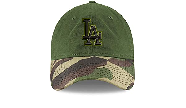 d90e168ec24 New Era 100% Authentic Los Angeles Dodgers Memorial Day 2.0 9TWENTY  Adjustable Hat - Green Camo at Amazon Men s Clothing store