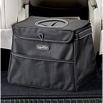 High Road StashAway Car Trash Can with StuffTop Lid: Automotive
