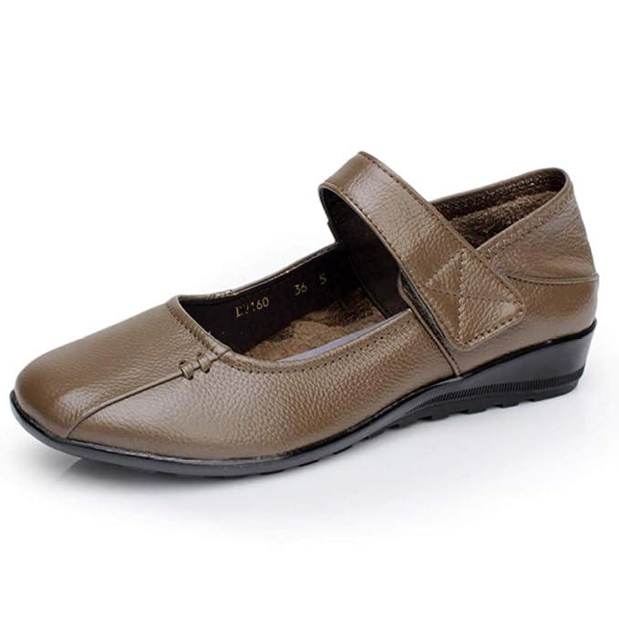 Zapatos De Trabajo Zapatos Planos Para Mujer Mary Jane Oficina Mocasines Zapatos Casual Guisantes Zapatos Náuticos: Amazon.es: Ropa y accesorios