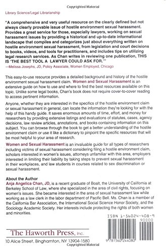 Women and Sexual Harassment: A Practical Guide to the Legal Protections of Title VII and the Hostile Environment Claim (Haworth Legal Information) by Brand: Routledge
