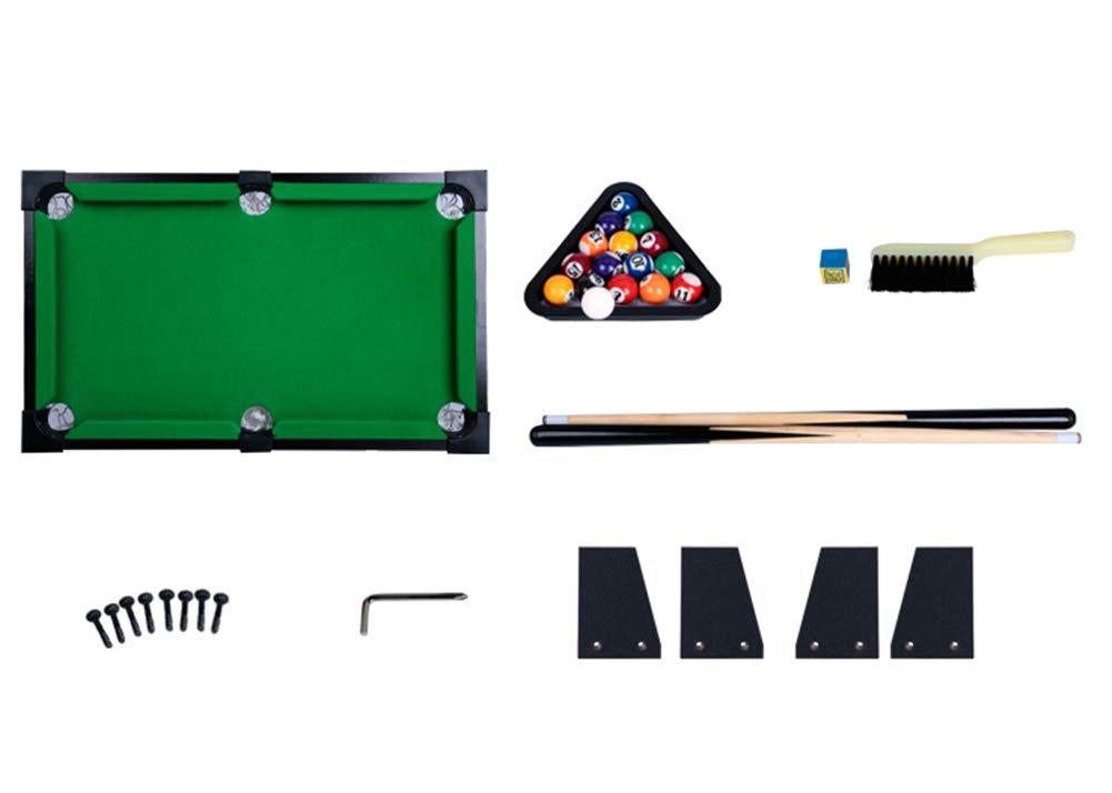 Lcyy-game Mesa de Billar Mini Juego Incluye Bolas de Juego, Palos ...