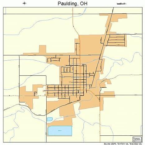 Amazon Com Large Street Road Map Of Paulding Ohio Oh Printed