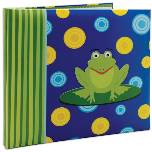 Kids Scrapbook Page - MCS MBI 13.5x12.5 Inch 3-D Character Scrapbook Album with 12x12 Inch Pages, Frog (848137)