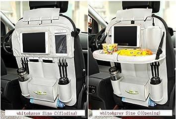 Bearfire Car Backseat Organizer PU Leather Auto Back Seat For Kids Toy Bottles Storage