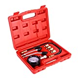 Petrol Engine Compression Tester Test Gauge Kit Car Motorcycle Garage Tools +Case
