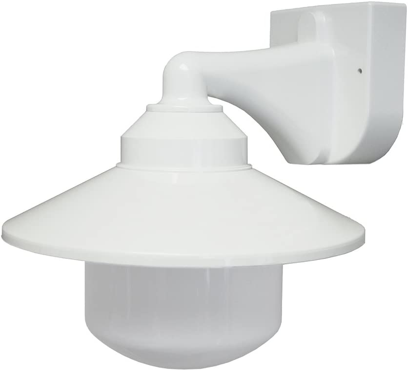 Polymer Products 2120-L56601A Incandescent Long Neck Wall Bracket Fixture, White