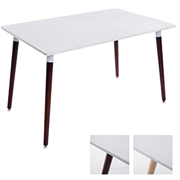 Tisch Weiß Eckig.Clp Ess Tisch Bjarne Eckig Holz Beine 120 X 80 Cm Design