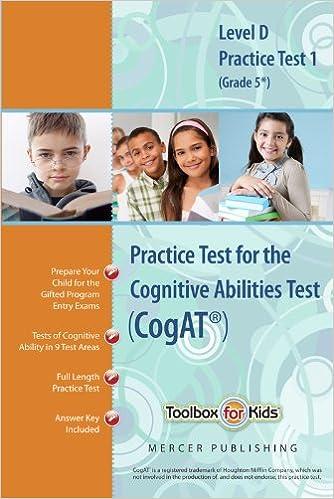 Cognitive abilities test cogat multilevel d book grade 5 cognitive abilities test cogat multilevel d book grade 5 practice test 1 form 6 mercer publishing 9780984421039 amazon books fandeluxe Gallery