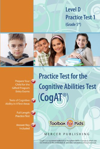 Download Cognitive Abilities Test CogAT® Multilevel D Book (Grade 5*) - Practice Test 1 (Form 6) pdf epub