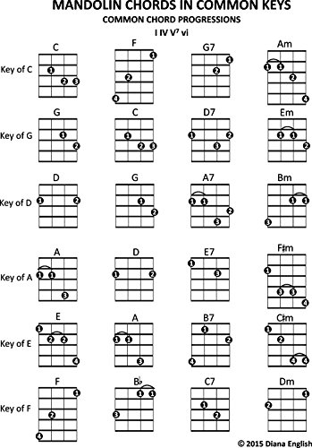 Amazon.com: Mandolin Chords In Common Keys: Common Chord ...