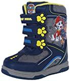 Josmo Paw Patrol Boy\'s Snow Boots with Velcro Straps Closure, Navy/Grey, 9 M US Toddler'