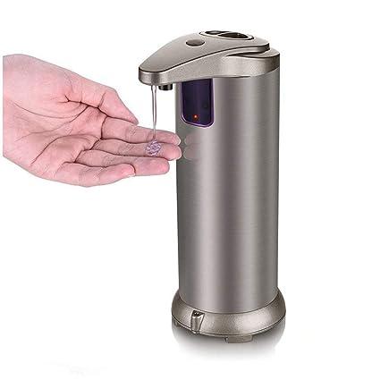 Dispensador automático de jabón de 3 modos Dispensador de jabón de sensor de acero inoxidable sin