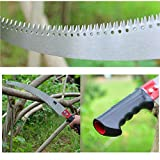 GLORYA Pole Saw - High Reach Pole Pruner with 6.5ft Lightweight Stainless Steel Pole - Manual Pole Cutter for Trees