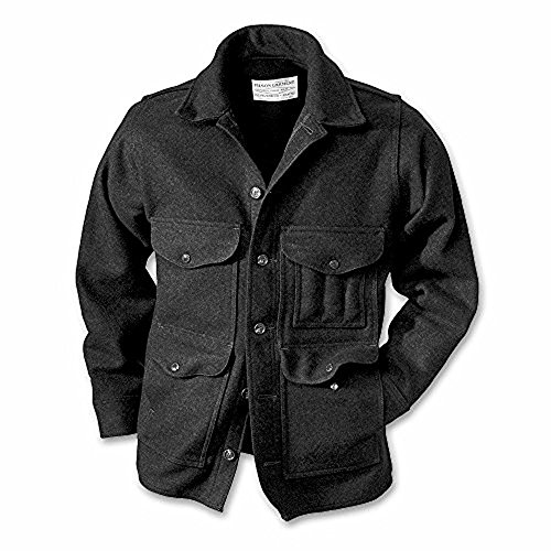 Jacket Mackinaw Cruiser (Filson Wool Mackinaw Cruiser Guide Fit - Charcoal - Seattle Fit - 2X-Large)