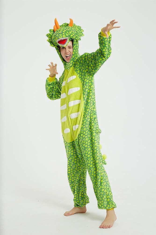 emmarcon Pigiama Animale Kigurumi Tuta Intera Costume Carnevale Halloween Cosplay Unisex Adulto