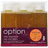 Hive Options Classic Warm Honey Wax Roller Depilatory Wax Cartridges 80g - Pack of 6