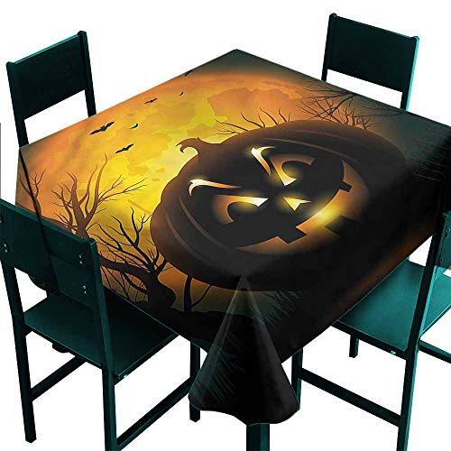 DONEECKL Washable Tablecloth Halloween Fierce Evil Character Table Decoration W50 xL50 for $<!--$25.10-->
