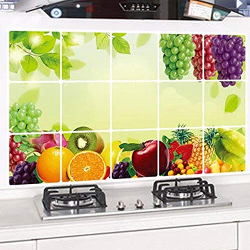 Buy World Beauty S Kitchen Fruit Grapes Removable Wall Stickers Anti Oil Stickers Wall Stickers Kitchen Tiles Aluminum Foil Oil Stickers Online At Low Prices In India Amazon In