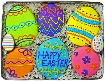 Amazon Com Homemade Easter Egg Sugar Cookie Gift Tin Gourmet
