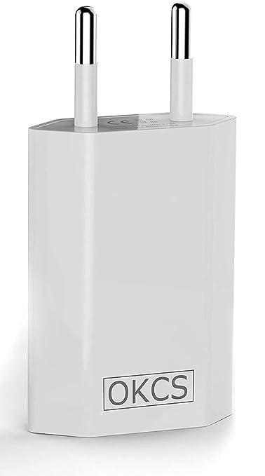 Okcs 5w 2x Usb Netzteil Netzstecker Adapter 5v 1a Kompatibel Für Smartphones Tablets Ebook Reader Iphone Galaxy P10 P20 Xperia Etc White Gewerbe Industrie Wissenschaft