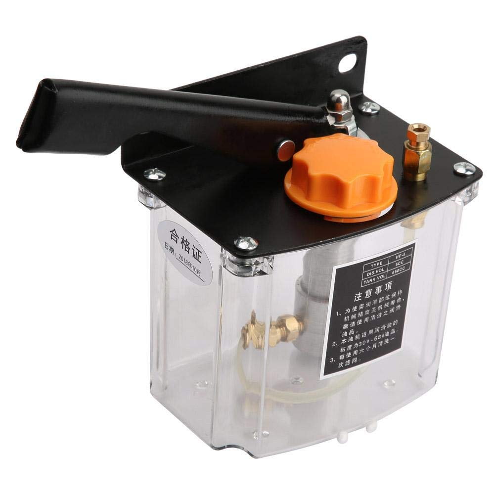 HP-5L Manual Lubricating Pump Left Hand Operated Lubrication Pump 650CC for CNC Punching Lathe Cutting Milling Machine