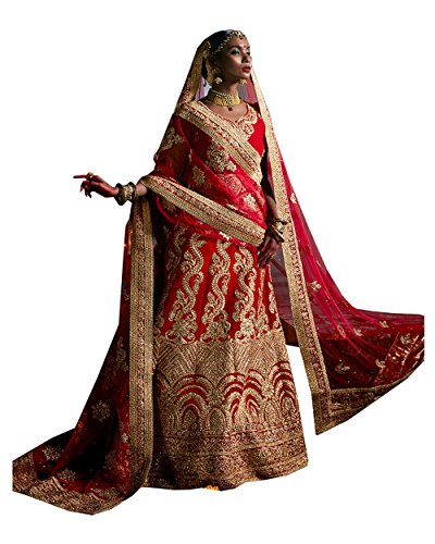 PCC Indian Women Designer Wedding Red Marron Lehenga Choli R-16678