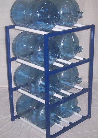 ShaCo Racks 5 Gallon Water Bottle Storage Rack With 8 Bottle Capacity