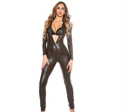 SHANGXIAN Donne Latex Jumpsuit Crotch Zipper Pelle Playsuit Latex Catsuit  DJ Sexy Danza Tuta e5ac8948c86